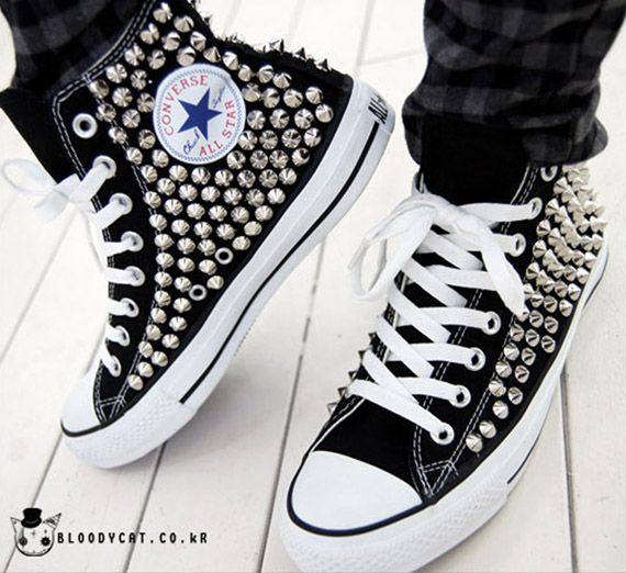 65ec5731161 spiked converse | shoes ☆ | Chuck taylors, Converse sneakers ...