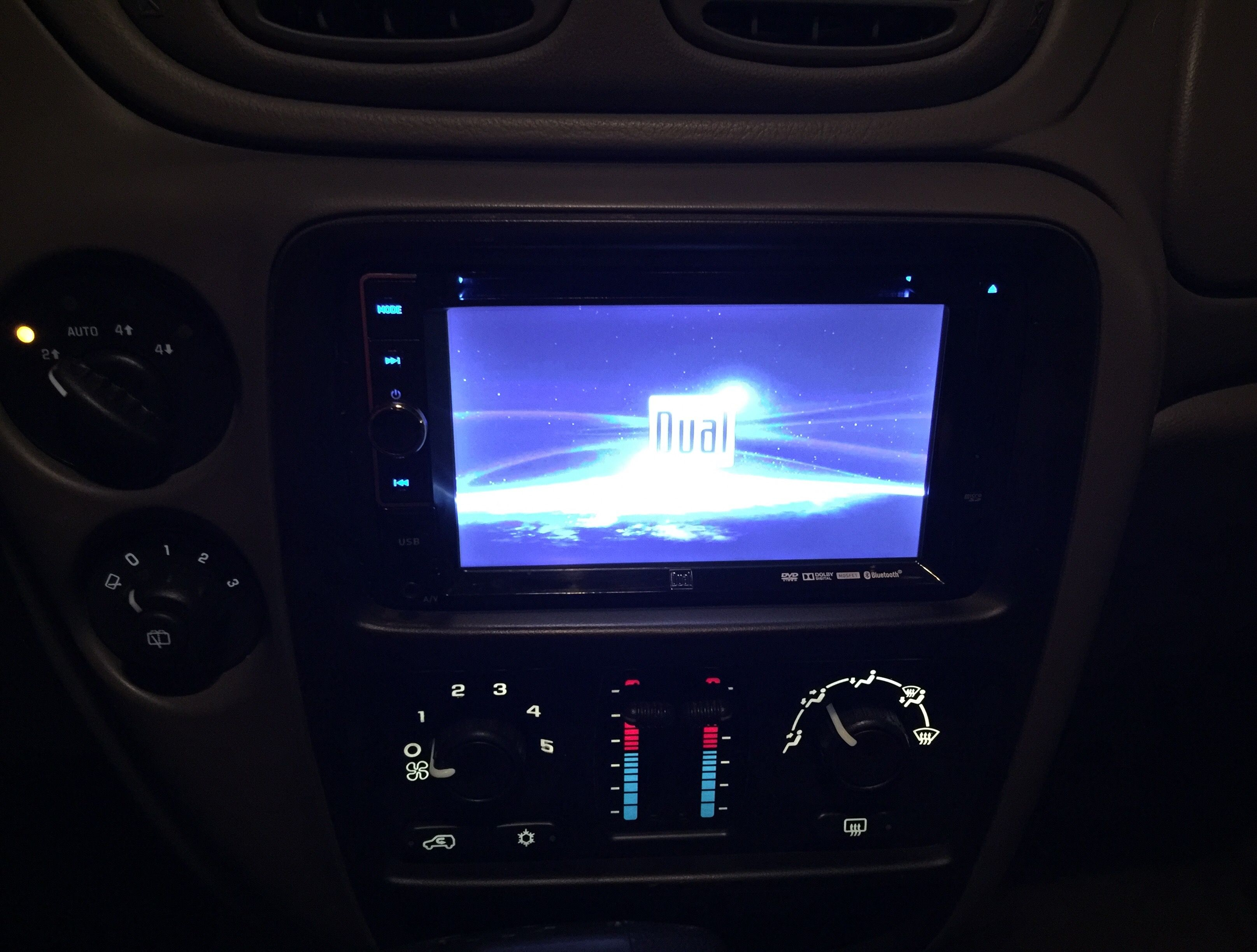 Double Din Touch Screen Radio Installed In My Chevy Trailblazer Derrickrucker02build