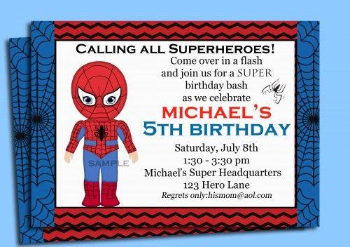 Spiderman Invitation Printable | ThatPartyChick - Cards on ArtFire
