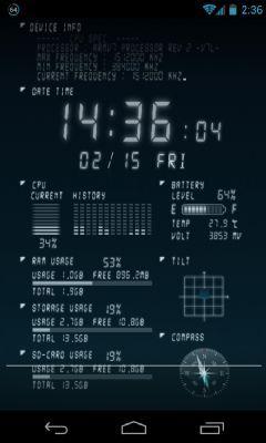 Device Info live Wallpaper, muestra la información de tu teléfono en tiempo real
