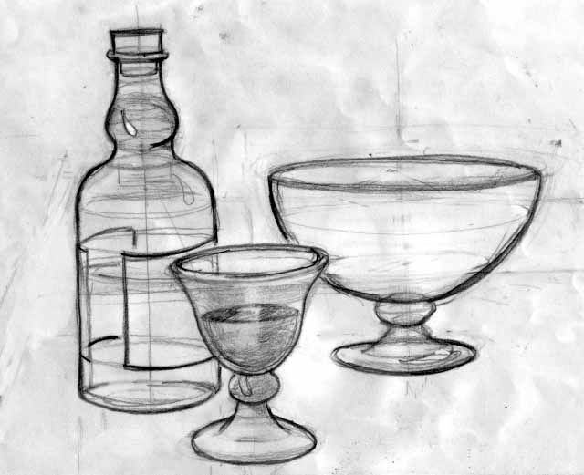 Scribble Drawing Of Objects : Basic class drawing cylindrical objects