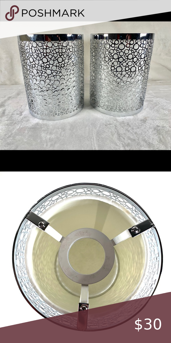 Silver Circles Light Fixture Covers NWT in 2020 Light