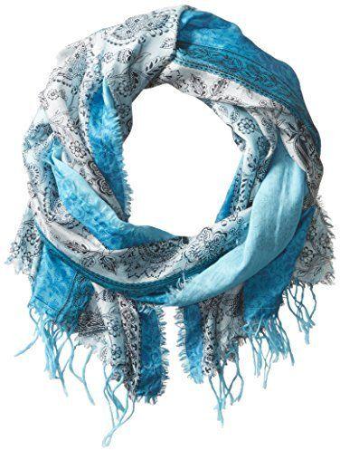 Michael Stars Women's Paisley Side Silk Scarf