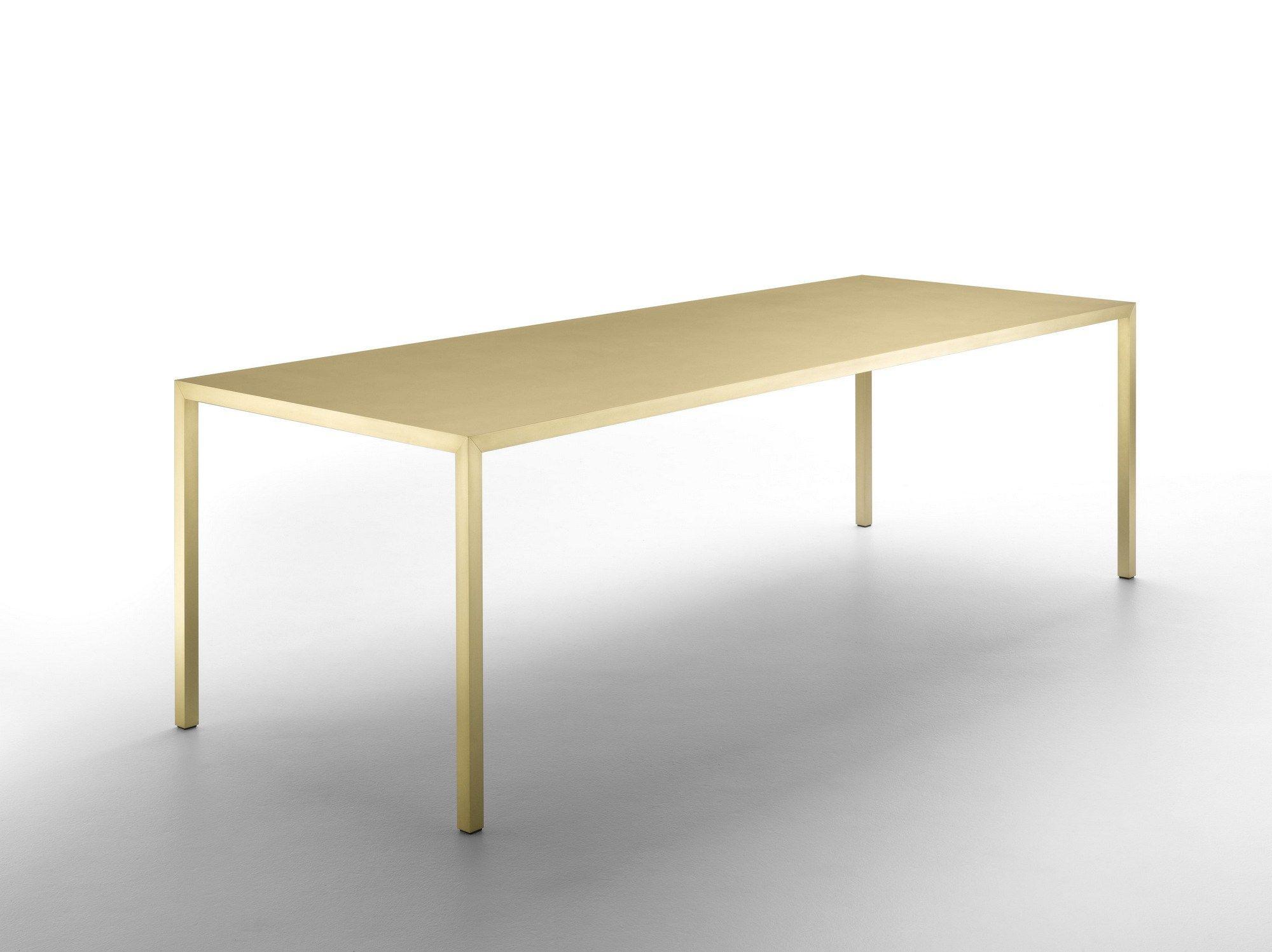 Tavolo In ~ Tense material tavolo in ottone by mdf italia tavolo living