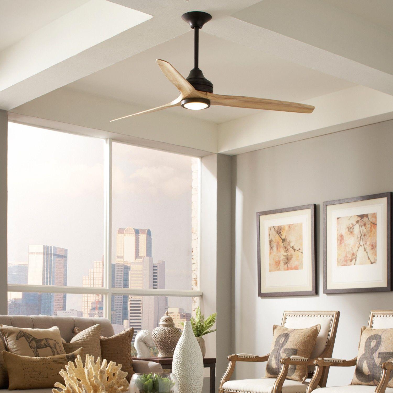 Modern Ceiling Fan With Drum Light Shade Modern Ceiling Fan
