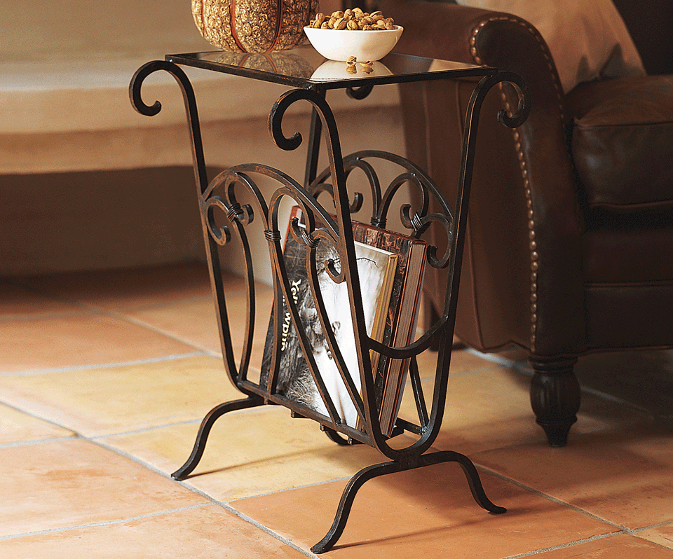 Scrolled Iron Side Table   Napa Style