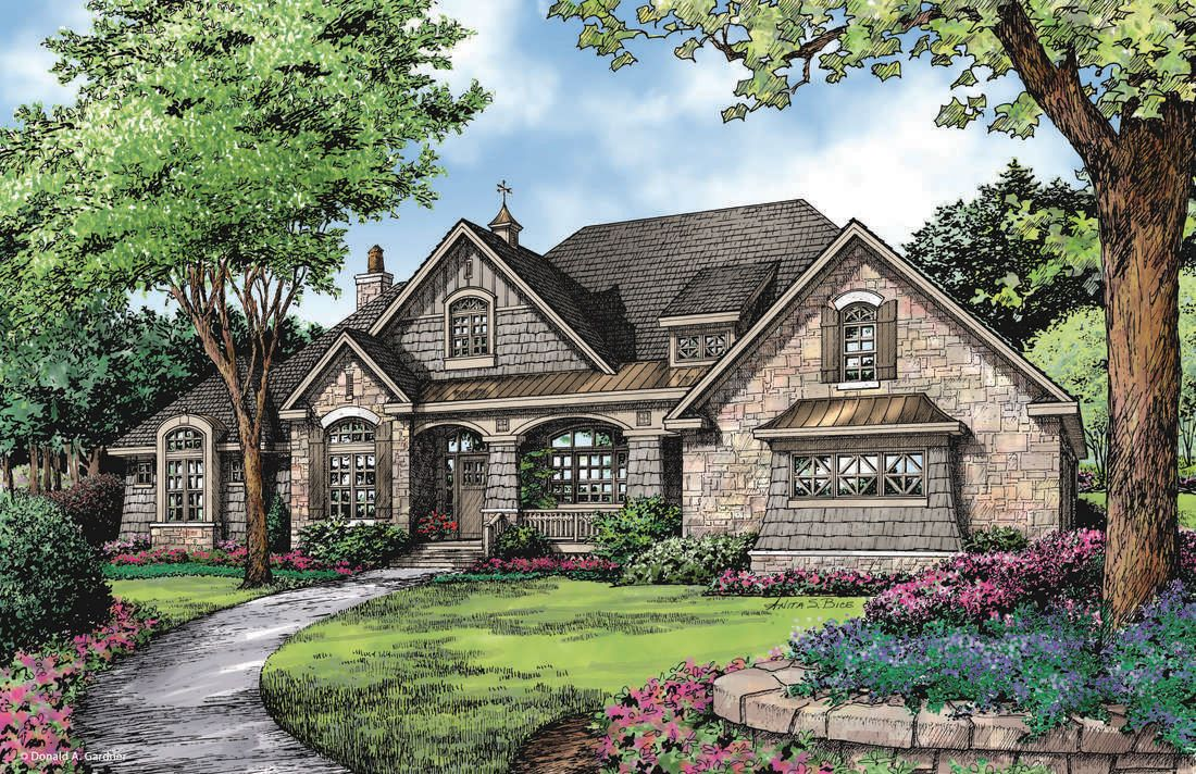 The markham home plan by donald a gardner architects for French country ranch home plans