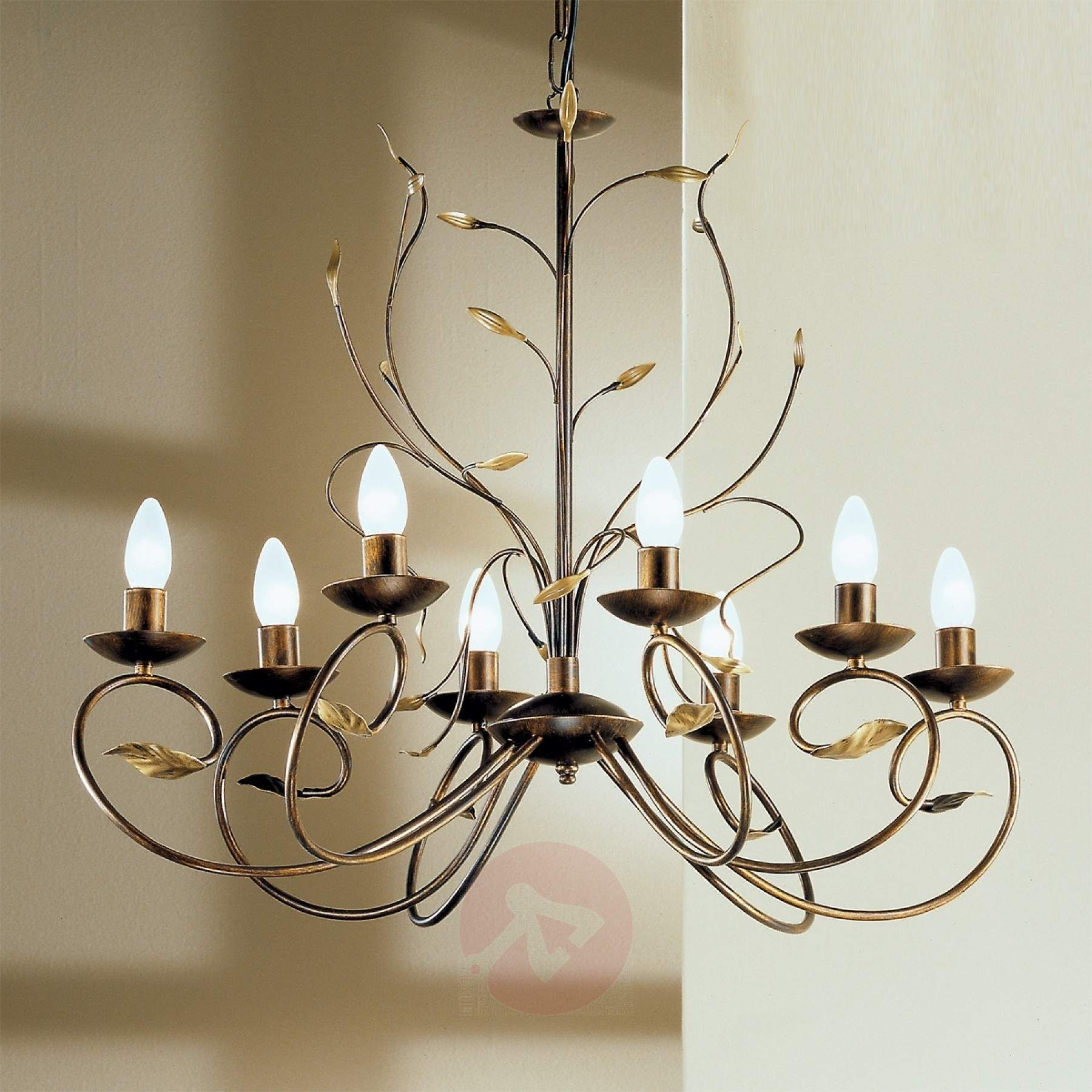 Regine Florentine Chandelier Eight Bulbs 01