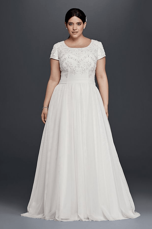 25 Modest Plus Size Wedding Dresses Lds Wedding Wedding Dresses Plus Size Davids Bridal Wedding Dresses Wedding Dress Styles