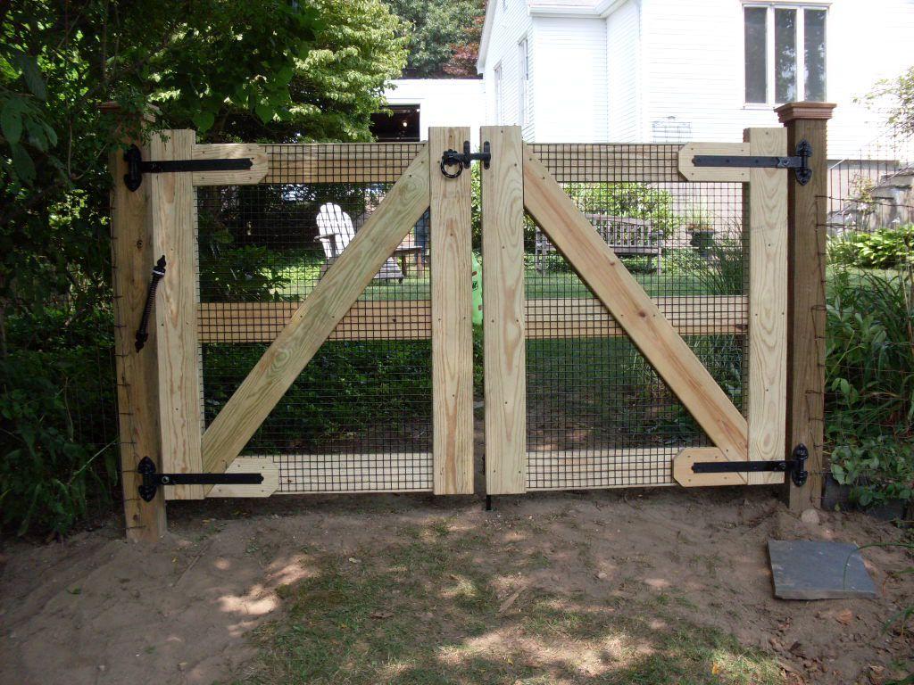 Fence Ideas Double Gate Gardening Dog Fence Fence