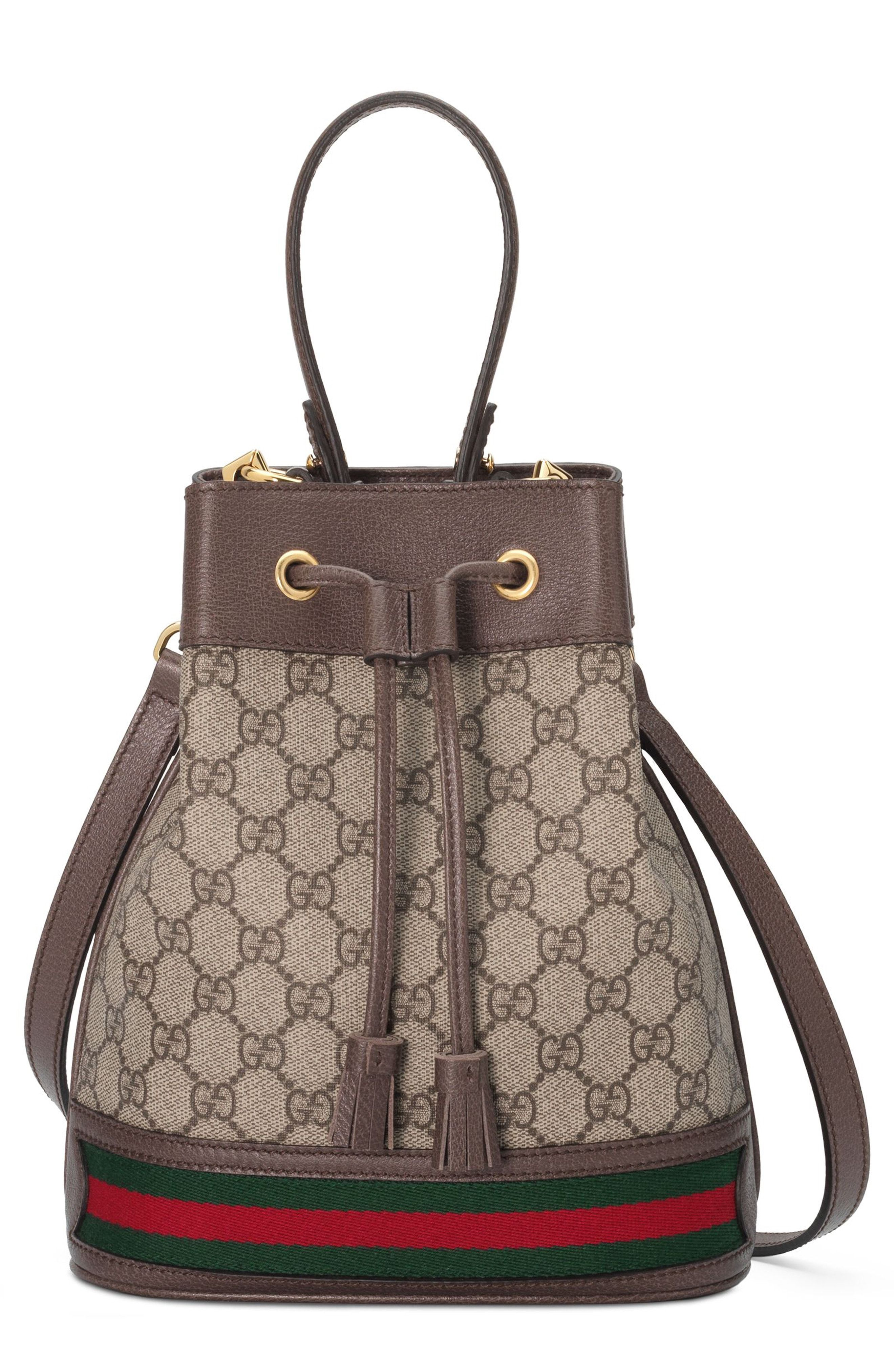 b1dc33b7f ... gucci small ophidia gg supreme canvas bucket bag available at nordstrom  ...
