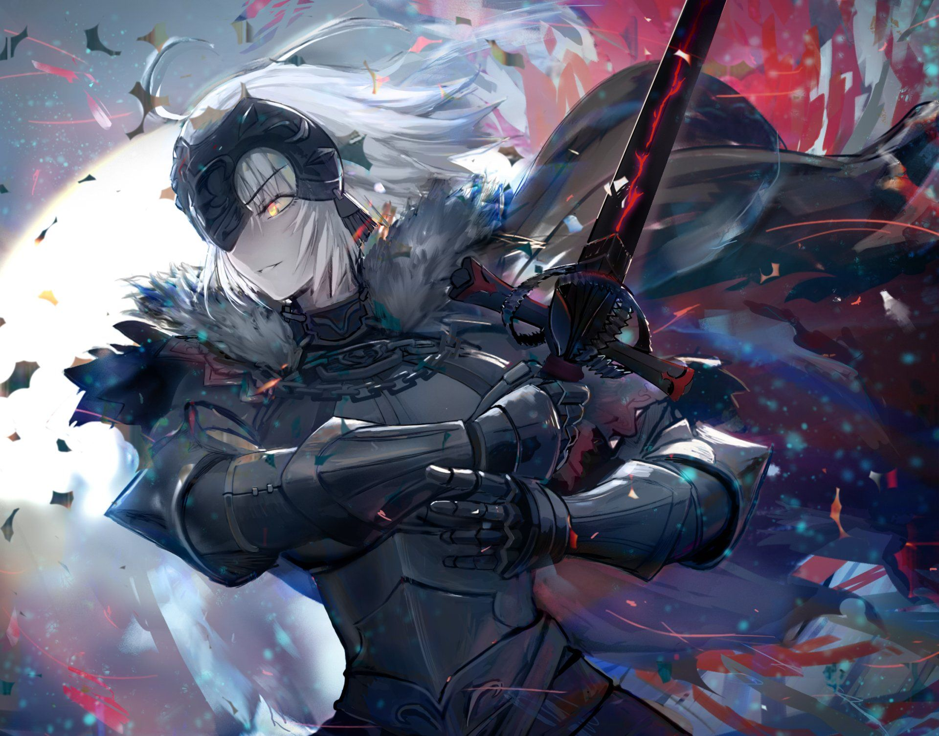Anime Fate Grand Order Avenger Fate Grand Order Jeanne D Arc Alter Fate Series Woman Warrior Sword Yellow Eyes W Anime Joan Of Arc Fate Fate Anime Series