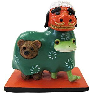 copeau コポー 正月 獅子クマ舞いタロウ 71322 dinosaur stuffed animal animals frog
