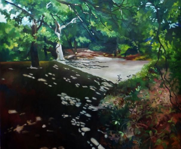 sunny day home office. Sunny Day In The Forest, Alison Chaplin. Painted Landscapes Look Great Home Office Or Hallway.