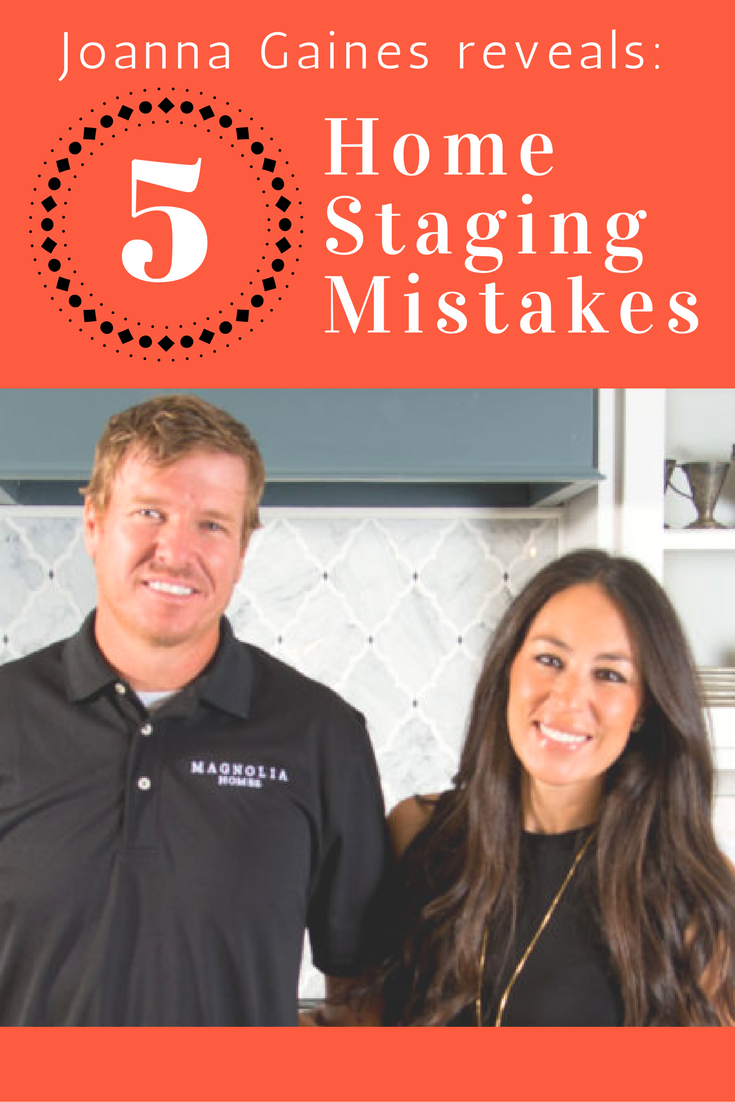 Joanna Gaines of HGTV's 'Fixer Upper' Reveals 5 Top HomeStaging Mistakes is part of home Staging Ideas - Chip and Joanna Gaines from HGTV's  Fixer Upper  cowrote a new memoir,  The Magnolia Story,  in which they reveal some homestaging mistakes to avoid