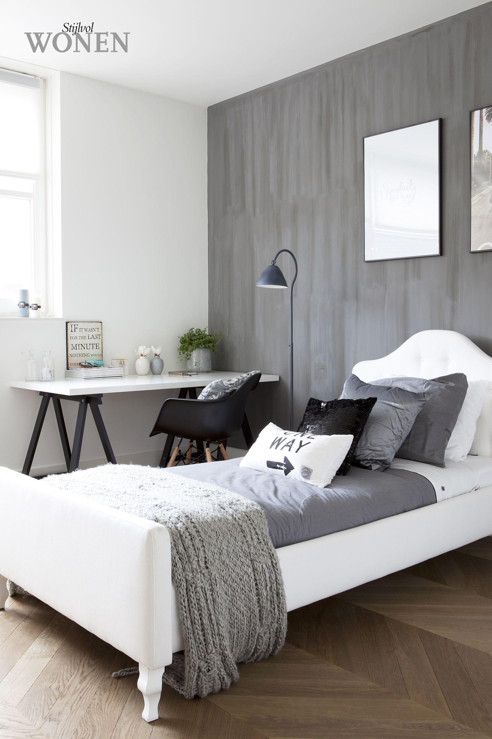 kalkverf o/d muur - Sam | Pinterest - Muur, Slaapkamer en Tienerkamer