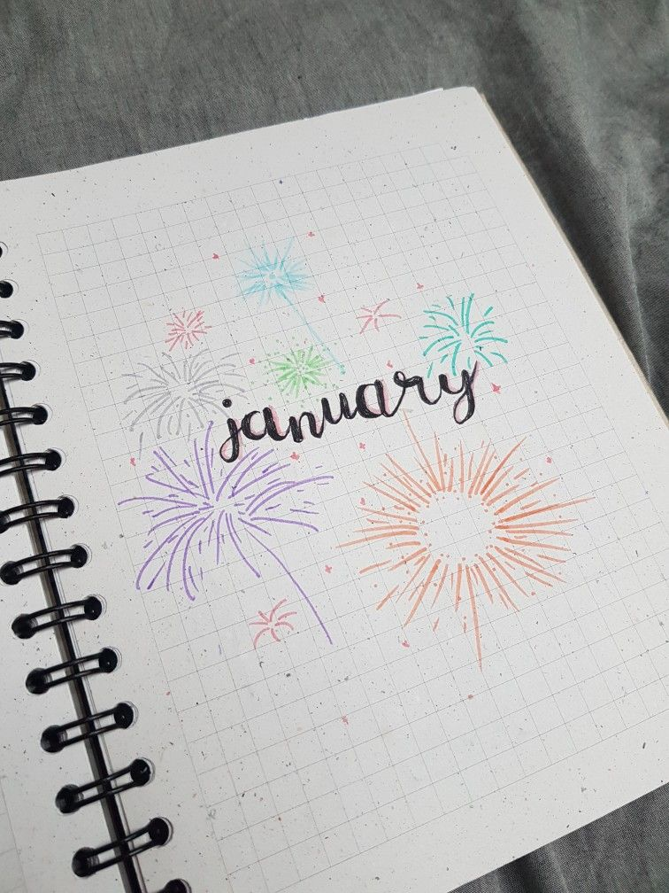 Bullet journal january cover page
