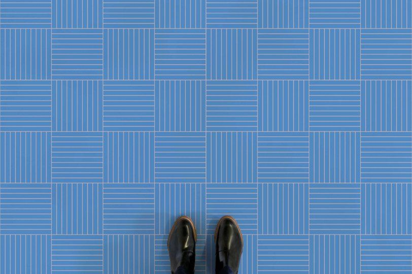 Geometric Stripe Tiles Vinyl Flooring | Vinyl flooring ...