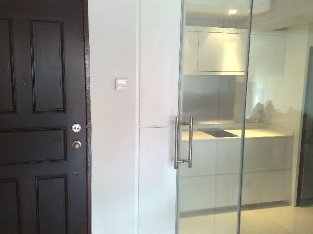 Kitchen:Fascinating Glass Kitchen Door Designs And Black Wooden Door With  White Kitchen Cabinets Also
