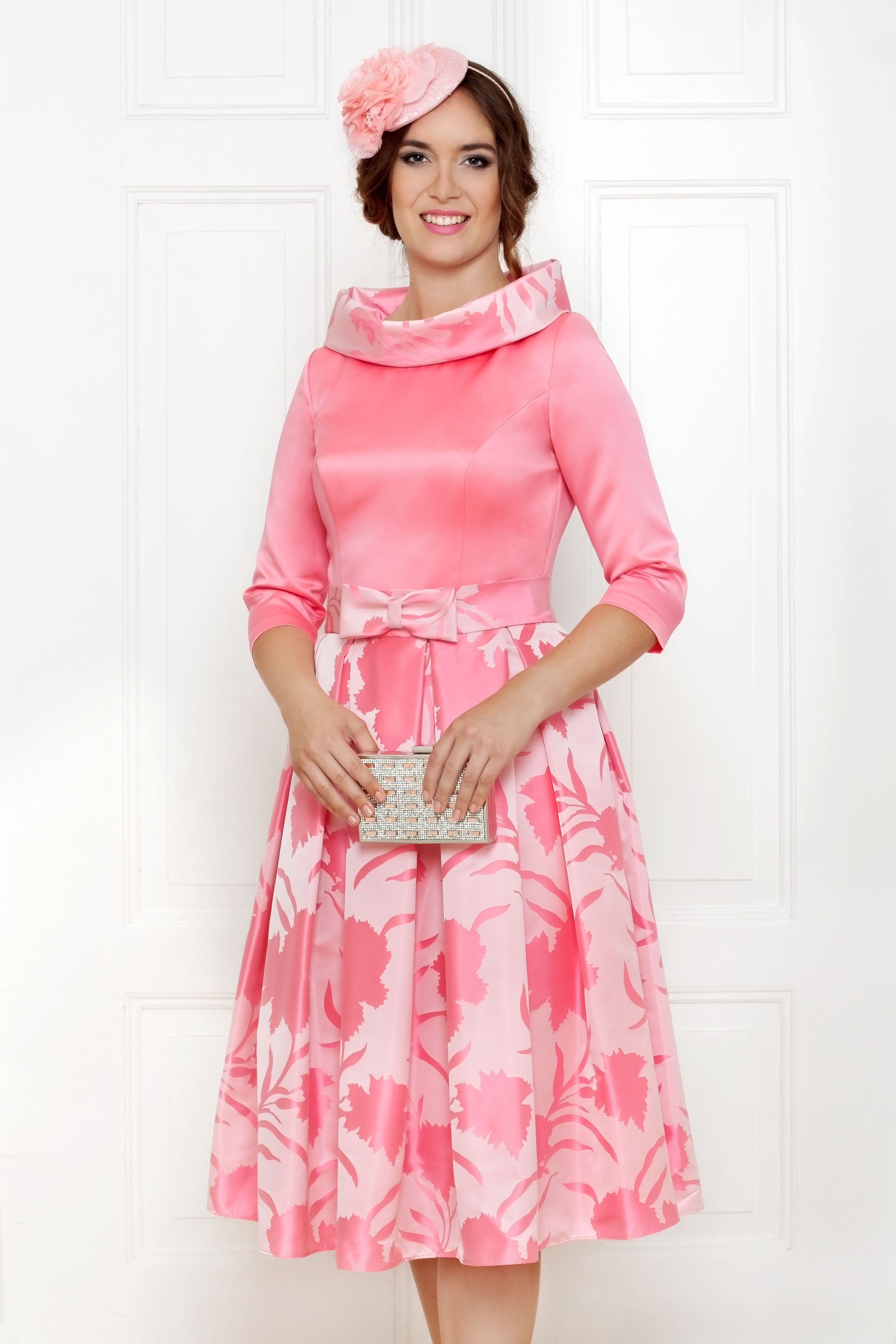 Stunning fit and flare pink print dress by Anoola. Perfect wedding ...