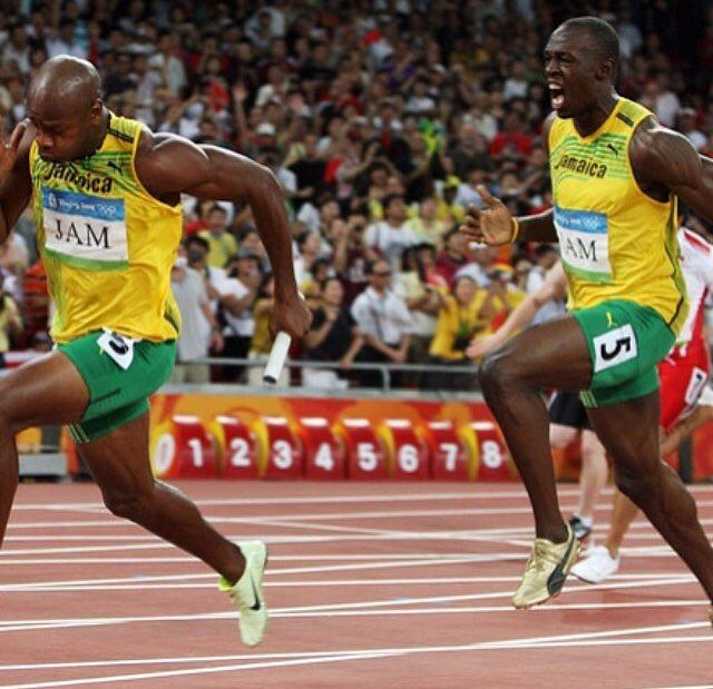 A defining moment in history in the 2008 Olympics...with the fastest ...