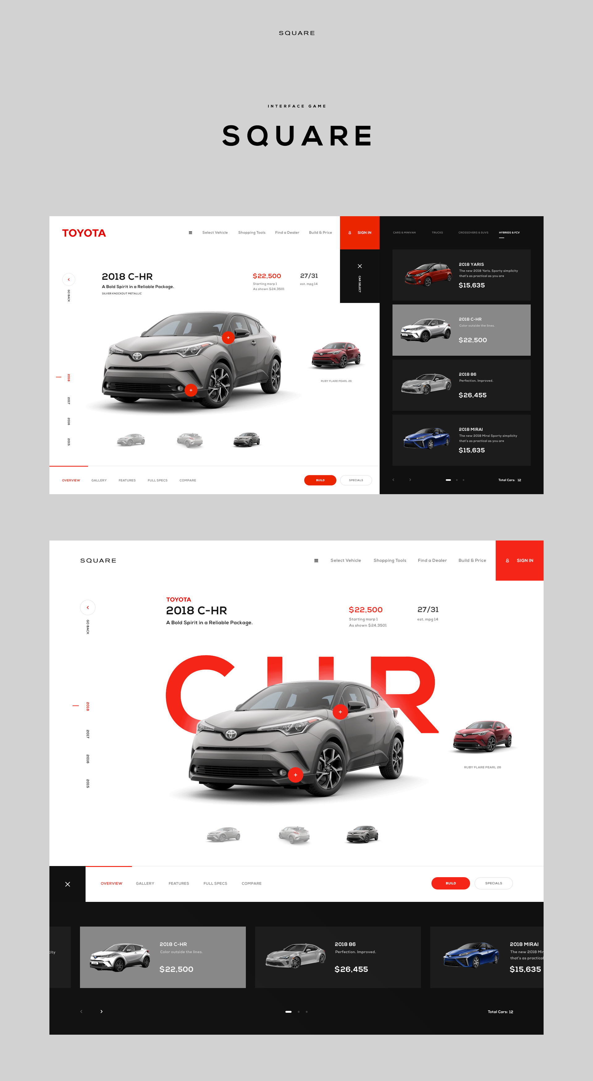 Square Toyota Screen Website Design Layout Web Design Web Layout Design