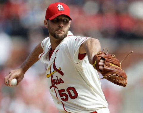 Wainwright in today's win over Brewers