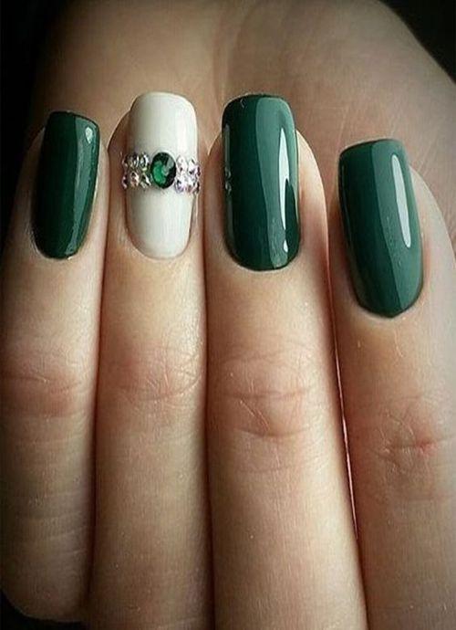 Gorgeous Emerald Green Nail Art Designs 2019 2020 In 2020 Green