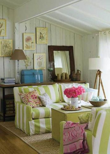 Observation Green Striped Sofas The Art Of Layering Pinterest