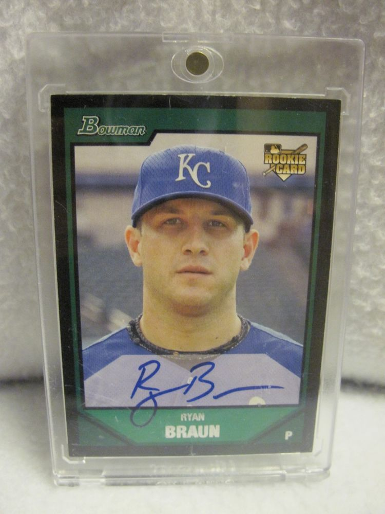 2007 Bowman Ryan Braun 342500 Autograph Blue Rookie Card