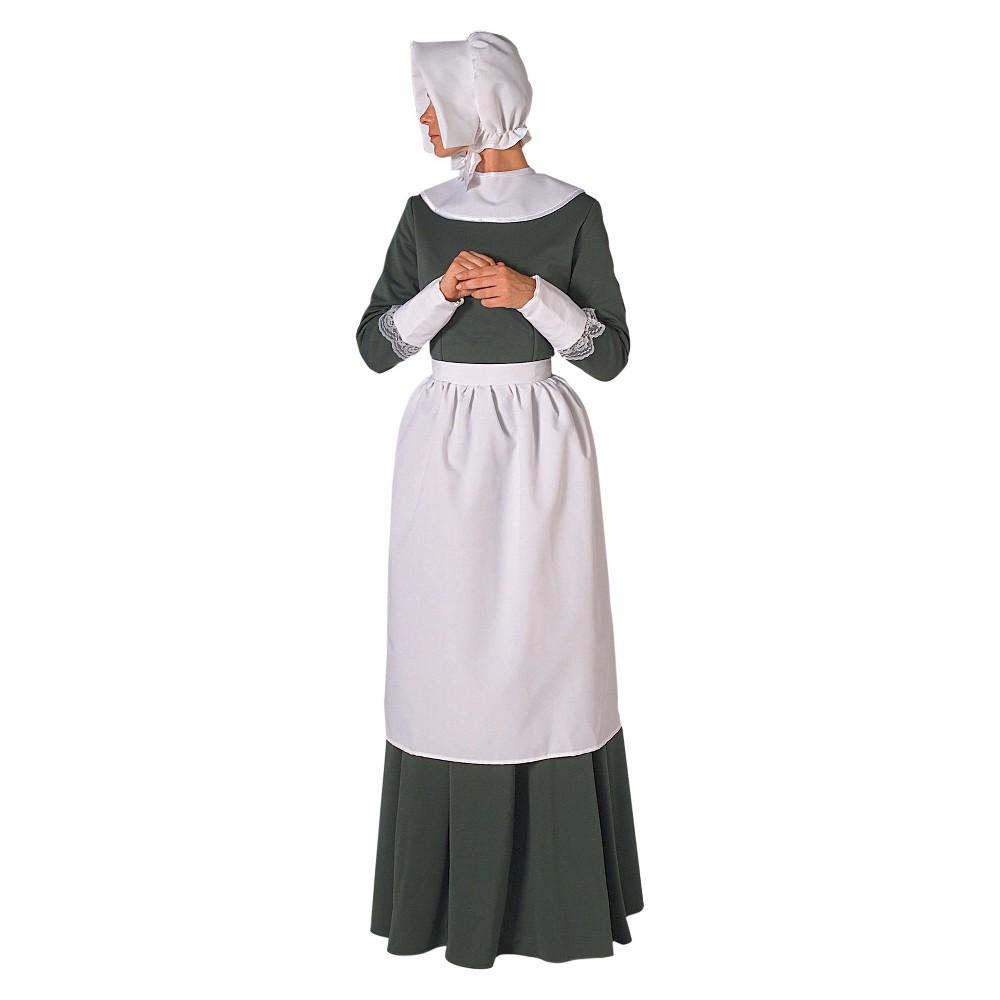 Halloween Pilgrim Lady Adult Accessory Costume Kit, White