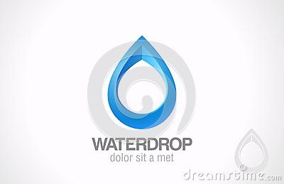 Logo Water drop abstract. Creative design droplet. by Sellingpix, via Dreamstime