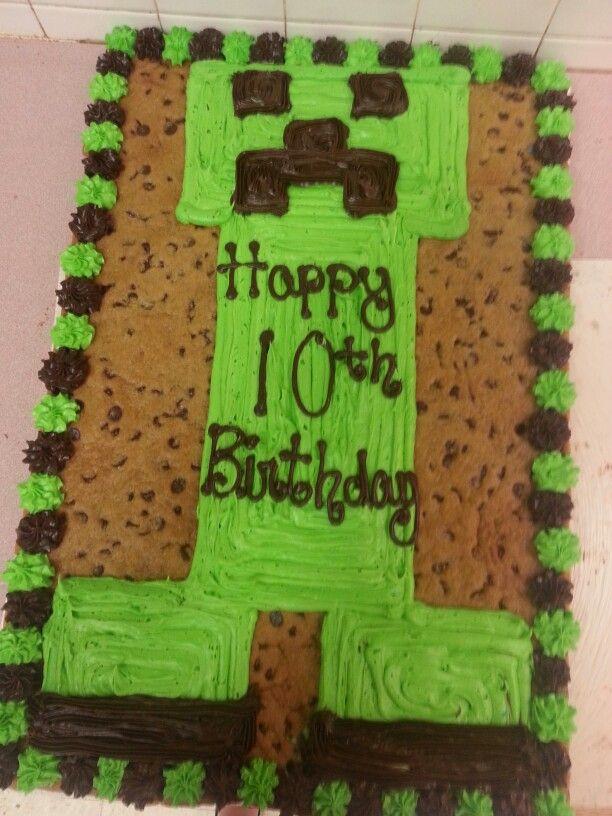 Mindcraft Creeper Cookie Cakes Pinterest Creepers