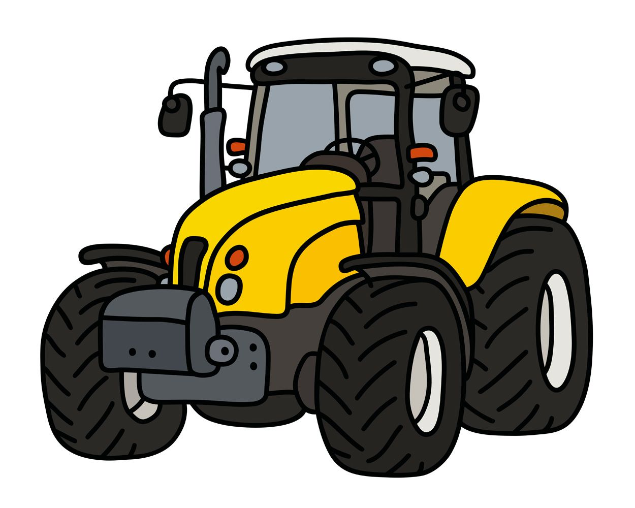 The Yellow Tractor Trator Desenho Trator Aniversario De Trator