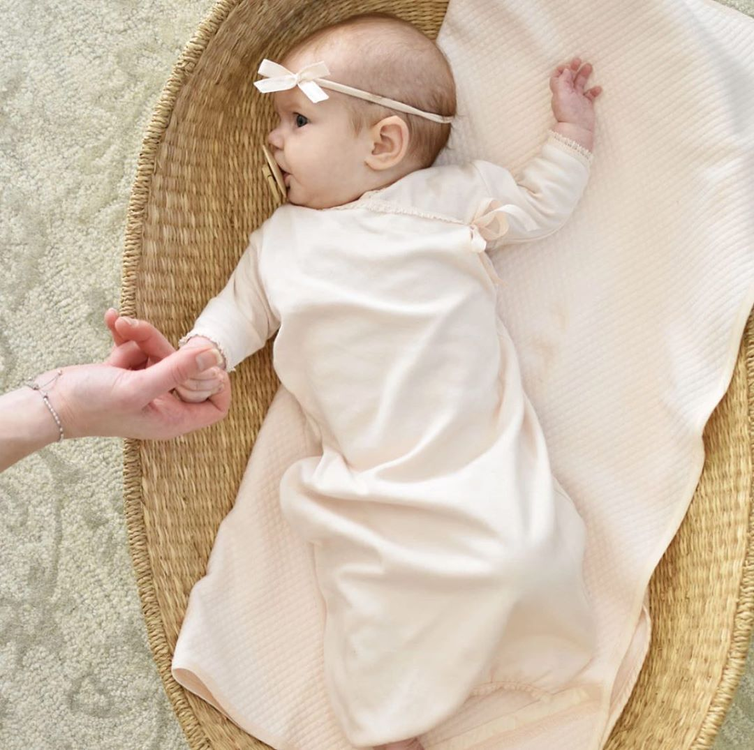Baby Beau Belle On Instagram Our New Ava Cotton Layette Is Made With 100 Pima Cotton Known For Its Soft Te In 2020 Newborn Layette Baby Beau Baby Outfits Newborn
