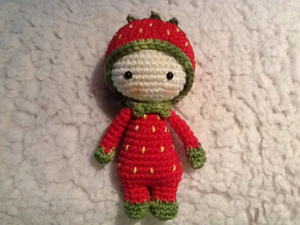 Amigurumi Strawberry Doll Pattern : Tiny Lalylala strawberry by Marja Post Handmade by me ...