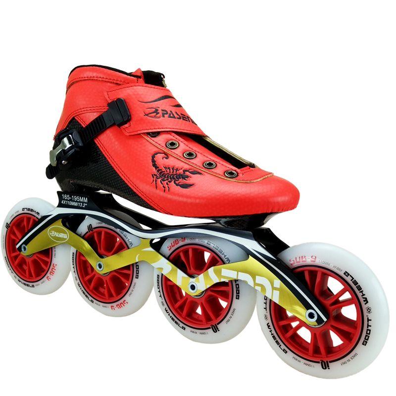 Carbon Fiber Professional Speed Skating Shoes Women Men Inline
