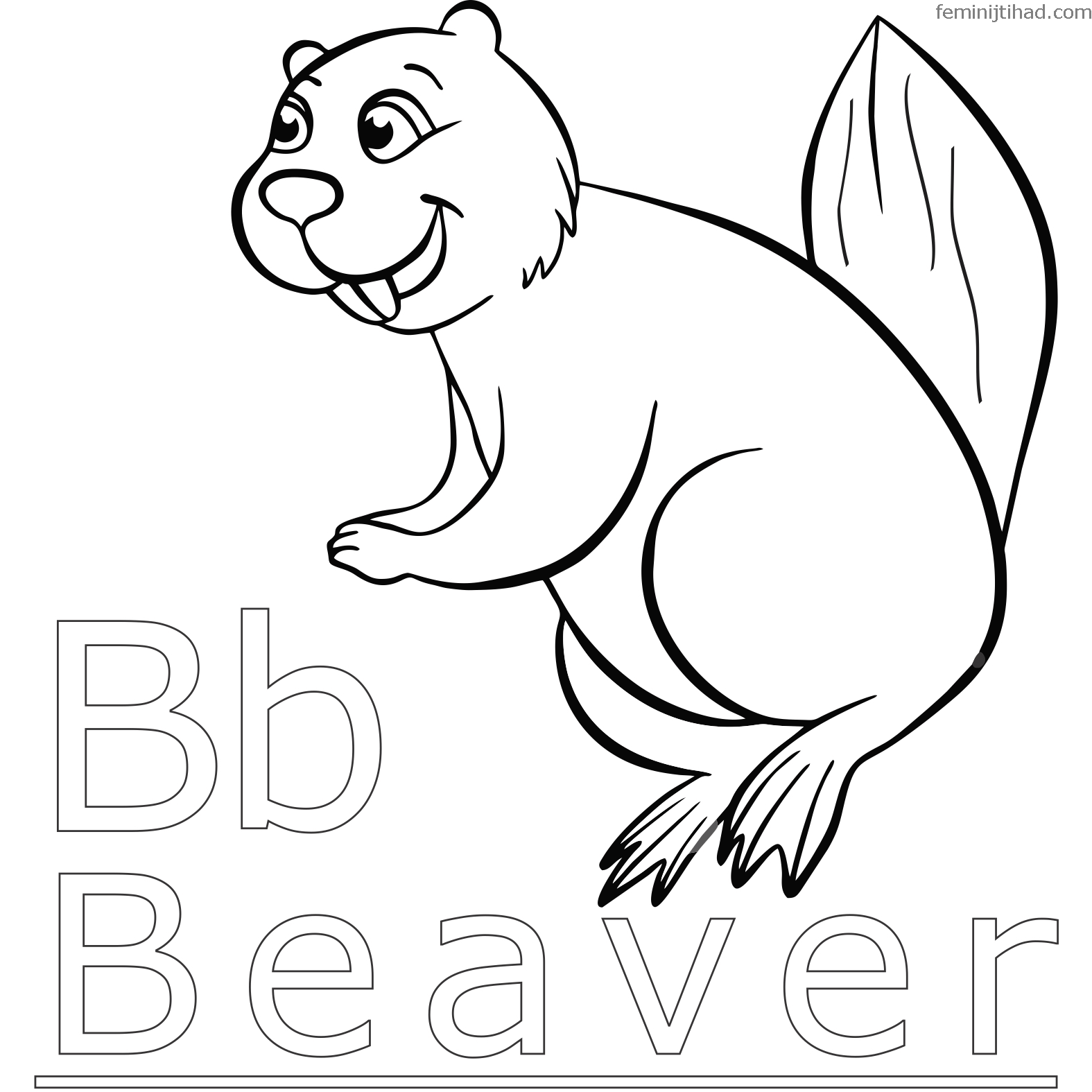 Beaver Coloring Pages To Print For Free Coloring Pages Coloring Pages To Print Animal Coloring Pages