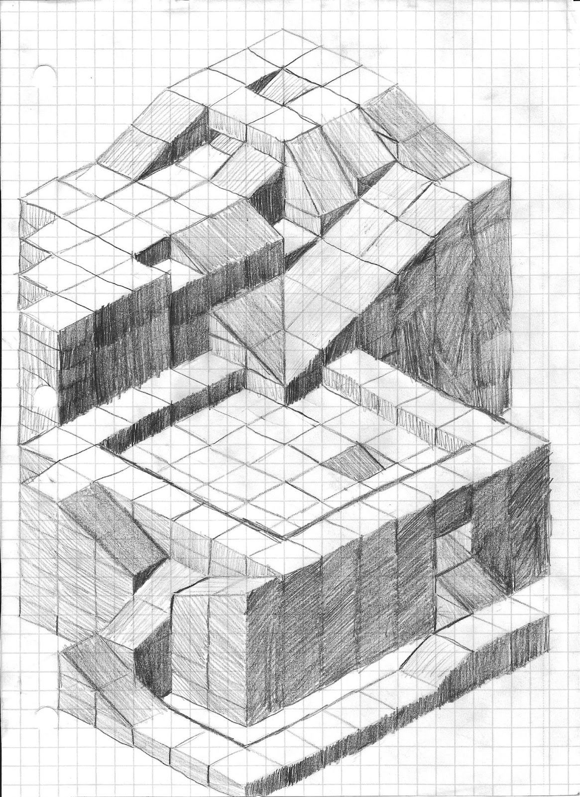 Gags Blog Drawing Isometric Sketch