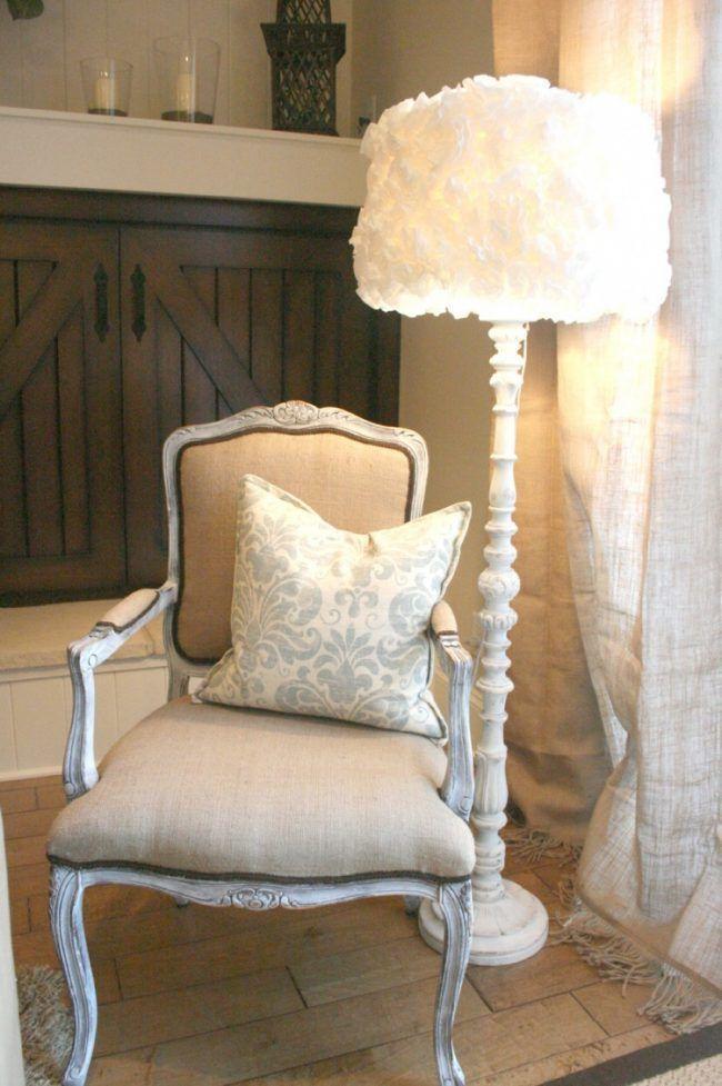 Lampenschirm für Stehlampe selber machen -vintage-shabby-chic ...