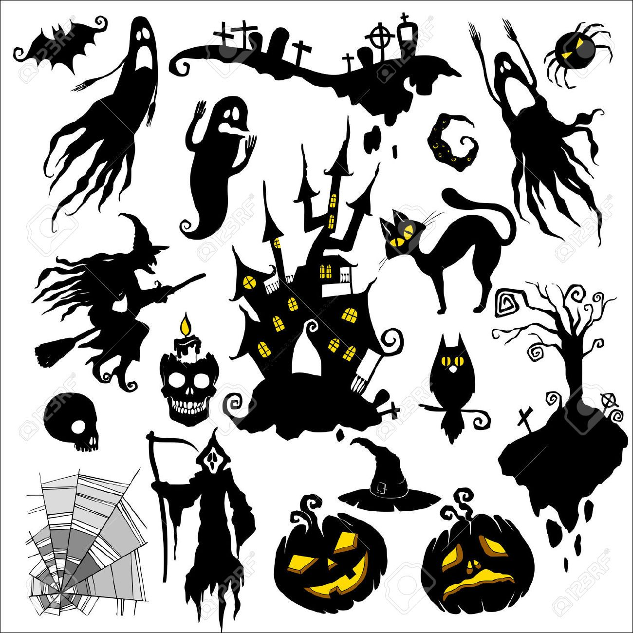 Image result for scary tree silhouette halloween
