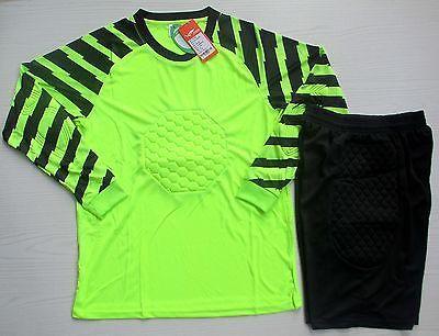 Soccer Goalie Uniform Adult Long Sleeve Jersey & Short Pants Goalkeeper Kit N019