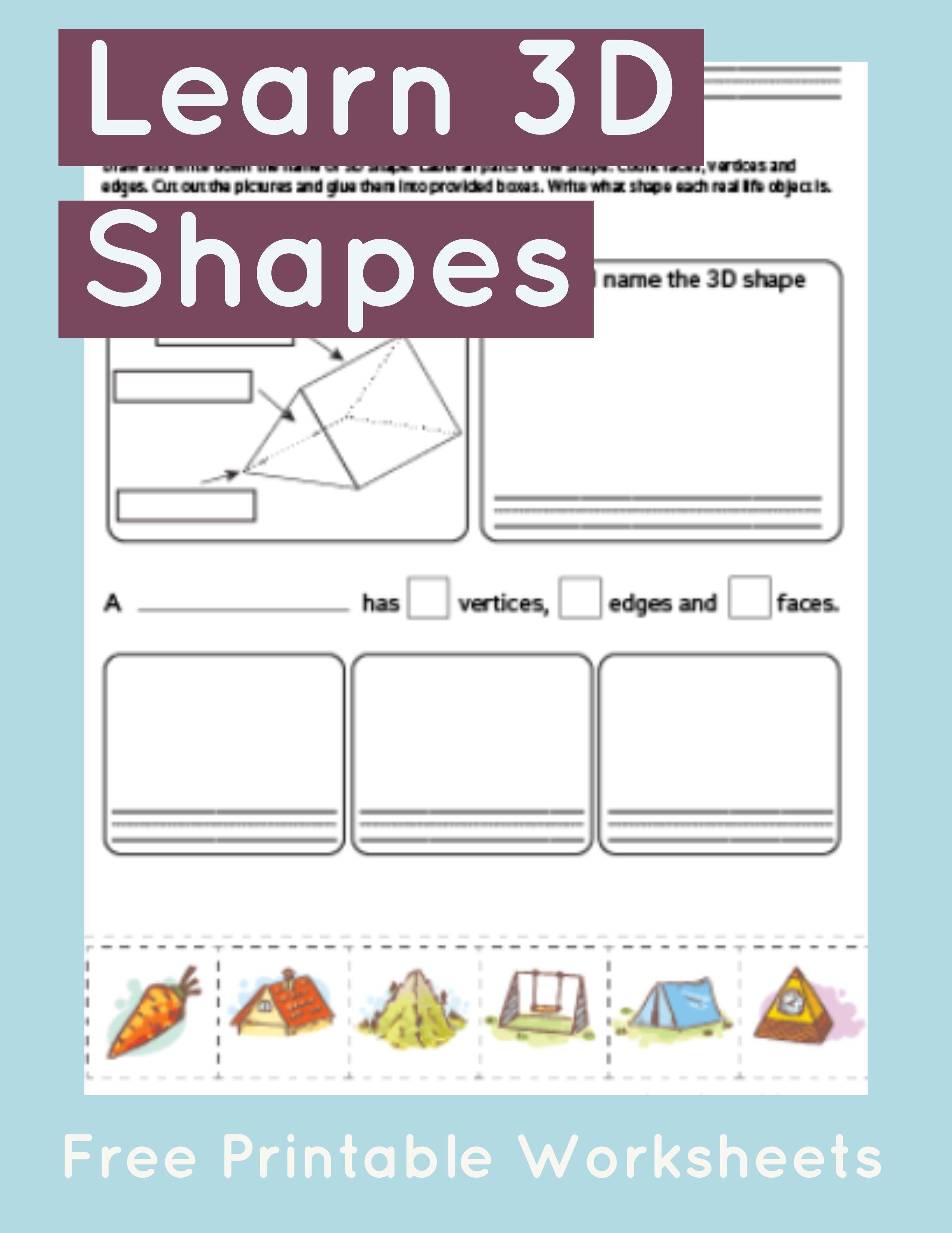 Triangular Prism Worksheet Primarylearning Org Shapes Worksheet Kindergarten Math Worksheets Free Math