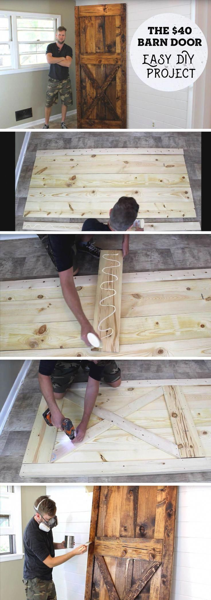 Here's a 40 Dollar DIY Barn Door All About Joining A Wooden Cut List Together! is part of Heres A  Dollar Diy Barn Door All About Joining A Wooden - A few pieces of lumber come together to end up in an awesome DIY Barn Door costing no more than 40 dollars