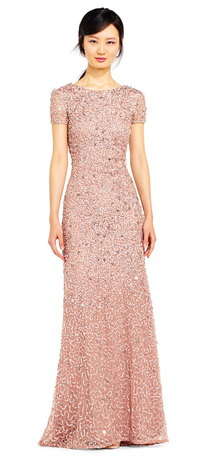 Scoop Back Sequin Gown | Dresses | Pinterest | Adrianna papell ...
