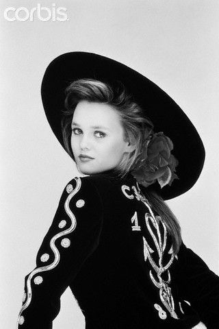 15-year-old French singer Vanessa Paradis models clothes by Christian Lacroix. 1987
