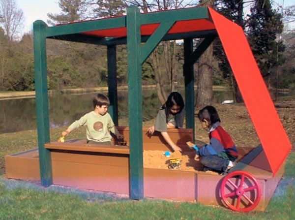 The Sandbox With Retractable Cover From PDPlay. This Great Innovation  Allows Kids To Play In