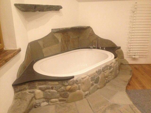 Badewanne Naturstein badewanne mit bruchsteinmauer flusssteinmauer naturstein pro