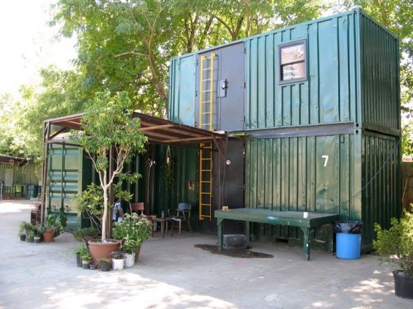 Lars Fisk's Shipping Container home in upstate NY.