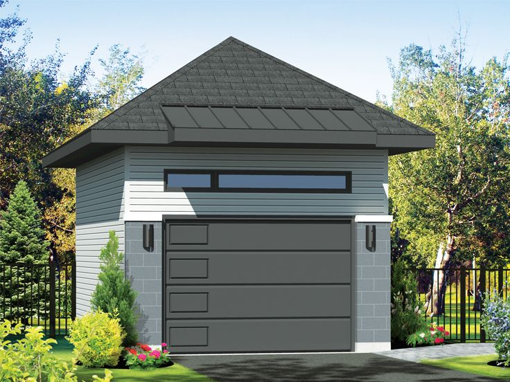 One Car Or Two Car Garage 072g 0042 In 2020 Garage Plans Pool House Plans Garage Design